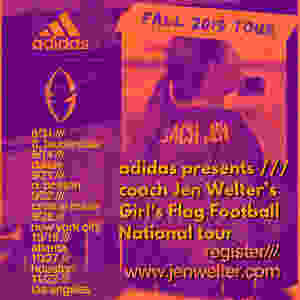 Jen Welter Football Camps Sponsored by adidas, los angeles, dallas, boston, new york, ft lauderdale, houston, atlanta