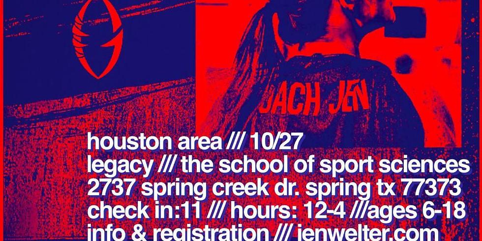 Jen Welter Girl's Football Camp | Houston