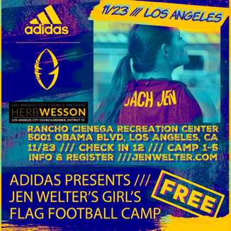 The First Female To Coach In The NFL Brings FREE Flag Football Camp For Girls To Los Angeles