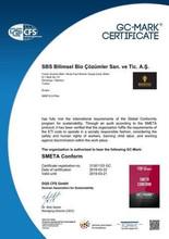 Smeta Conform Certificate