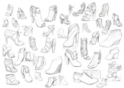 women shoes sketches