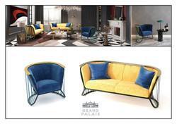 création et design de mobilier et chaises inspiré du Grand Palais