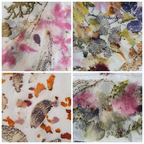 .Saturday 24th April. 'Floral Feels' an ONLINE workshop. Flowers on Silk