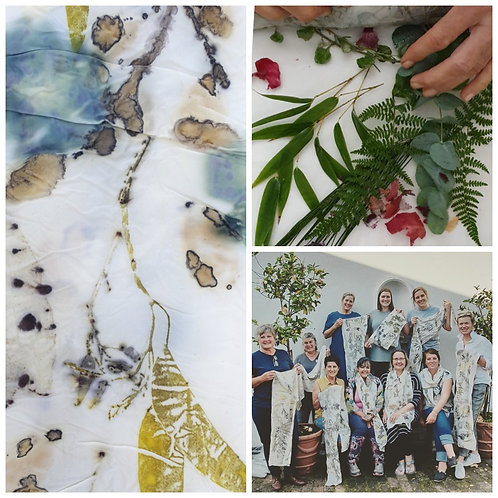 .Friday 30th July. Botanical Printing on Silk - Module 1