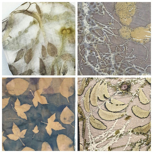 Saturday 31st July - Botanical Printing on Linen - Module ONE