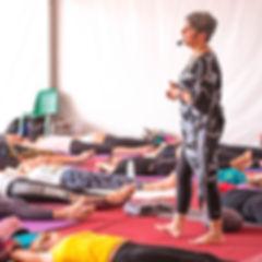Yin yoga at Yogalife Festival 2019