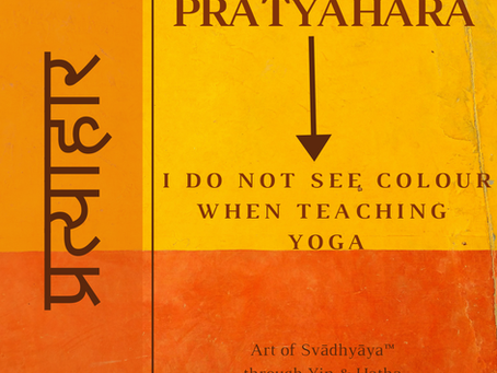 I do not see color when teaching yoga