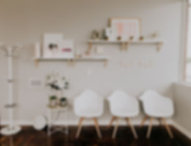 Lash and Beauty Studio waiting room