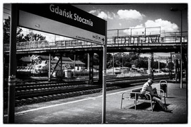 Waiting for the train
