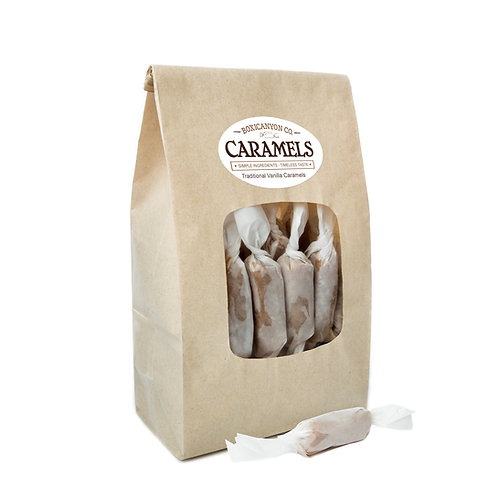 Traditional Vanilla Caramels - Two Dozen Bag