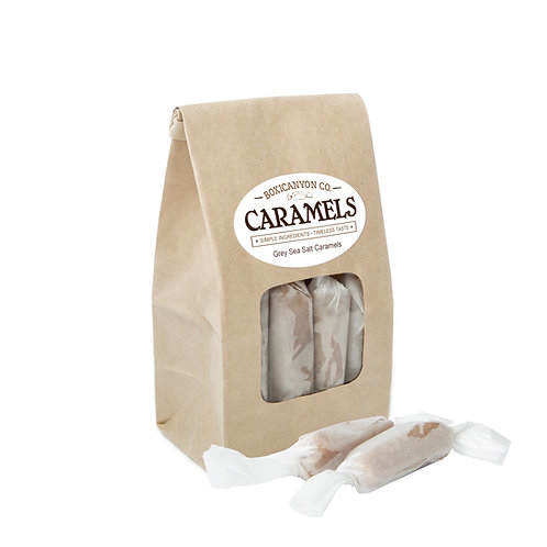 Grey Sea Salt Cream Caramels - One Dozen Bag