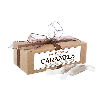 Merlot Sea Salt Caramels - One Dozen Gift Box