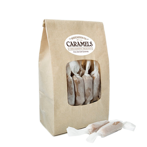Grey Sea Salt Cream Caramels - Two Dozen Bag