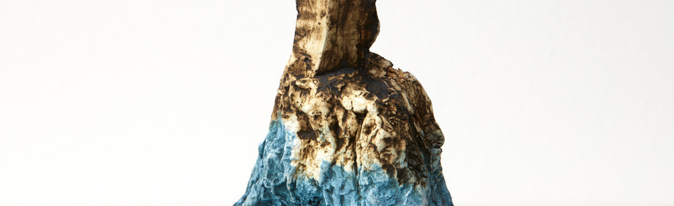 Blue, 2020, Earthenware, glaze, 18cm h 9cm w
