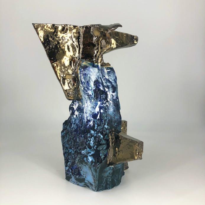 Earthenware, glaze, 2021, 19cm h, 14.5cm w, 13cm d