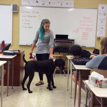 Une belle visite en classe.