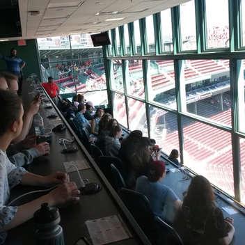 Un voyage à Boston a été organisé avec la visite du stade de baseball le Fenway Park.