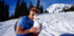 Mt Rainier Snowman