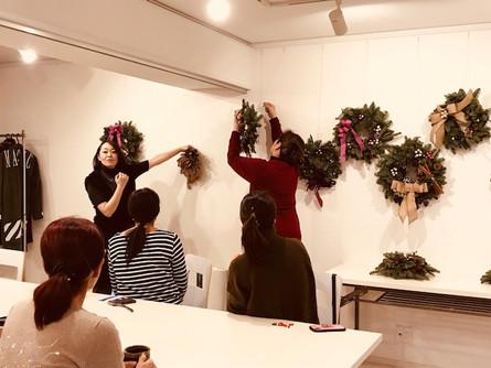 12月1日(金)・2日(土)クリスマスリース&キャンドルアレンジメント講座を開催