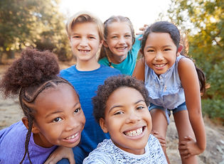 Portrait Of Multi-Cultural Children Hang