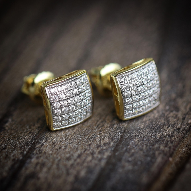 Iced Out Hip Hop Earrings from TSV Jewelers For Quality & Shine