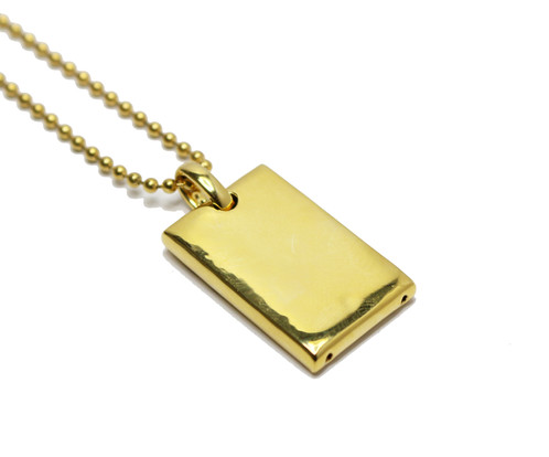 18k gold and rhodium pyramid eye dog tag pendant a mens hip hop 18k gold and rhodium pyramid eye dog tag pendant and ball chain the pendant is made of stainless steel with a 18k gold and rhodium plating on top aloadofball Choice Image