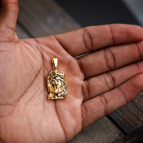 18k gold plated mini jesus face pendant mens hip hop jewelry 18k gold plated mini jesus face pendant aloadofball Choice Image