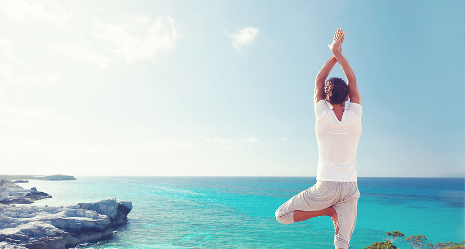 Practising Yoga by the Sea