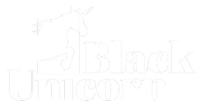 White Black Unicorn Logo Transparent