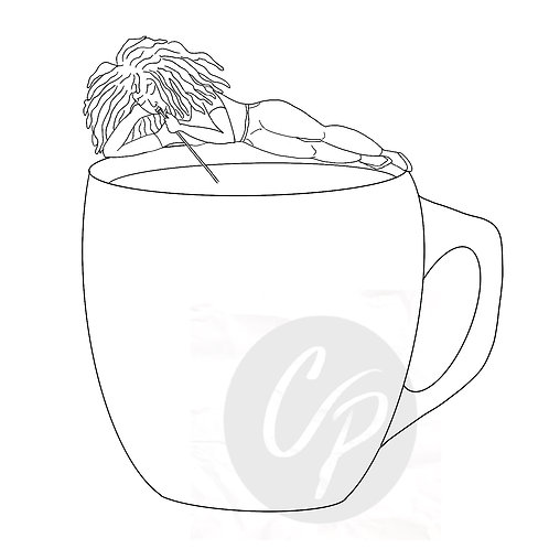 Me and My Coffee - Digital Stamp