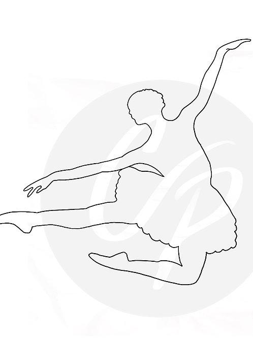 Ballet Dancer - Digital Stamp