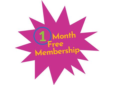 One Month Free Membership