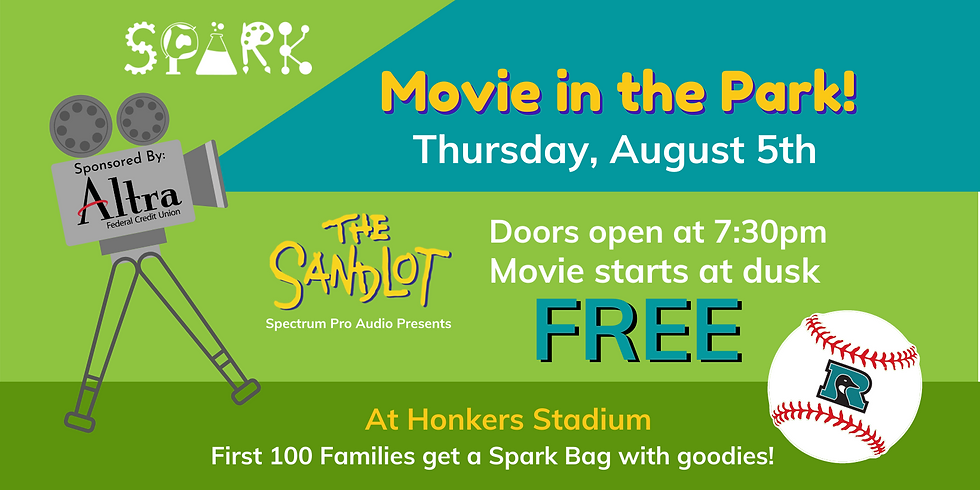 Movie in the Park - at Honkers Stadium
