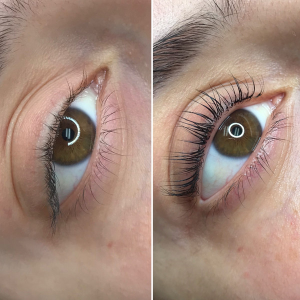 Keratin Lash Lift on natural lashes women blue eyes with semi permanent mascara to make the lashes darker in Sacramento, CA A keratin Lash lift is better than lash extentions