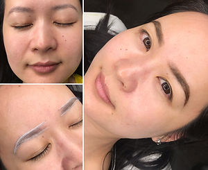 Brow Henna Before And After Brow Tinting Sacramento, CA Northe California Brow Shapping