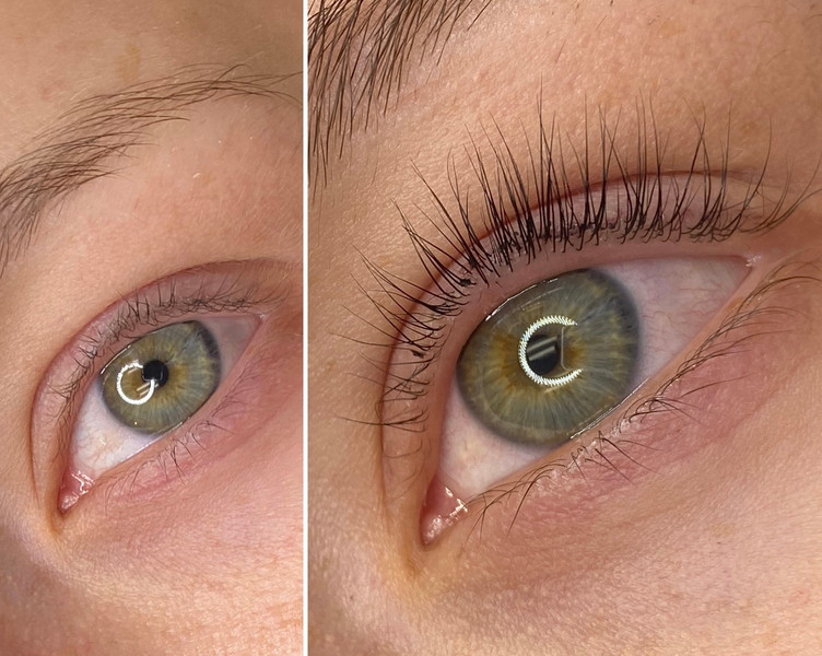 Keratin Lash List Before and After
