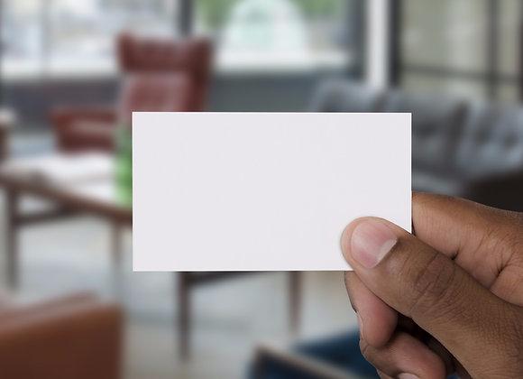 "Program Book Ad: Business Card Size (3.5""W x 2""L)"