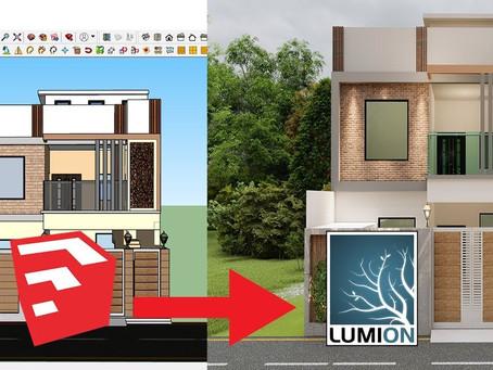 O melhor método de importação para sua versão do SketchUp e Lumion
