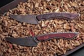 2x Handgeschmiedetes Messer mit Fassholzgriff 20 cm + Gift Box