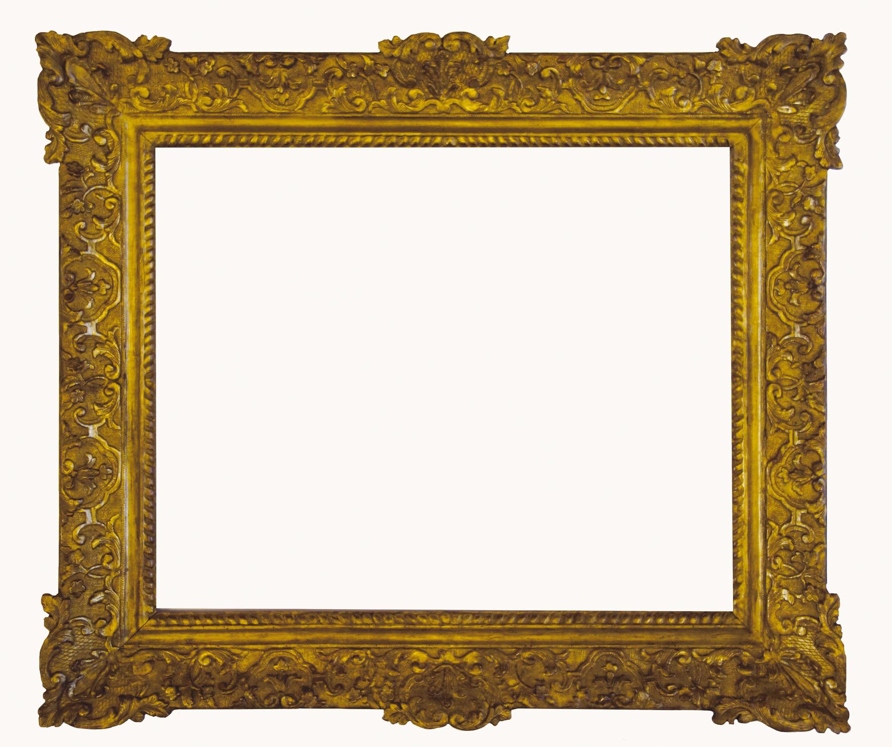 cadre-ancien-louis14-plat-perles-gorges-