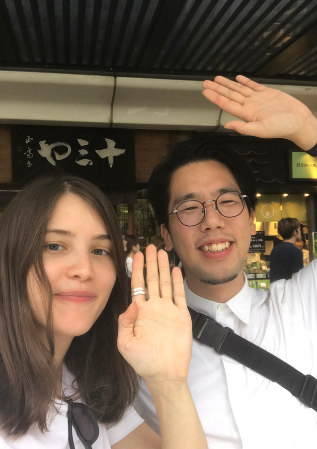 Trip to Kyoto (friend from laboratory)9.