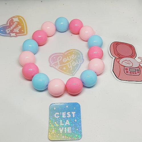 Bracelet acrylique tricolore