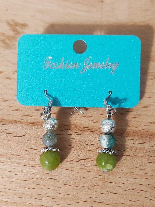 Boucles d'oreilles verde