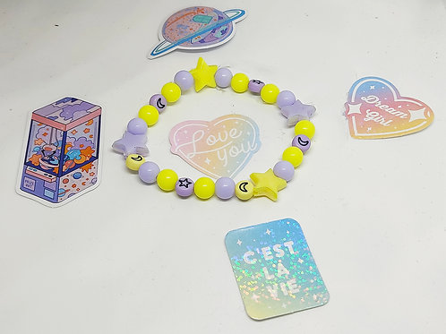 Bracelet Lune Étoile