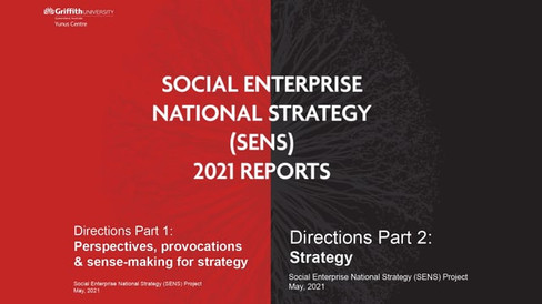Social Enterprise National Strategy (SENS) Report Launch with Alex Hannant and Belinda Morrisey (ES S02 E03)