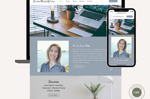 Create and Collab Web Design Project for SmilesMediaWorks