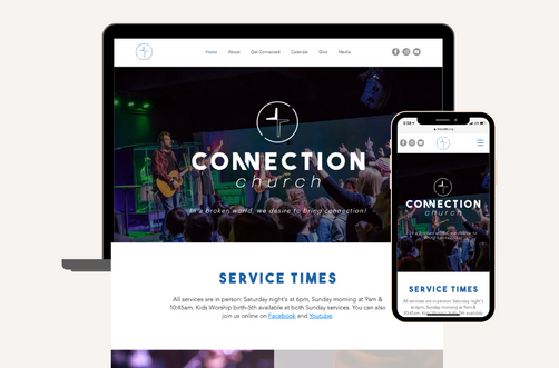 Create and Collab Web Design Project for Connection Church