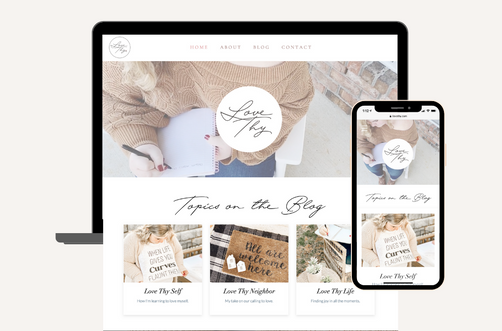 Create and Collab Web Design Project for Love Thy