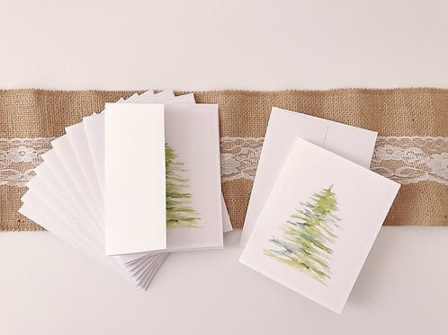 Holiday Watercolor Cards Set of 10