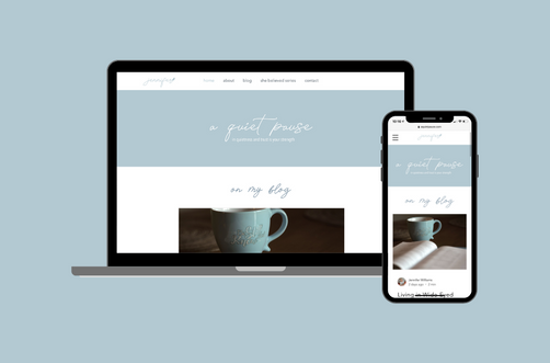 Create and Collab Web Design Project for A Quiet Pause